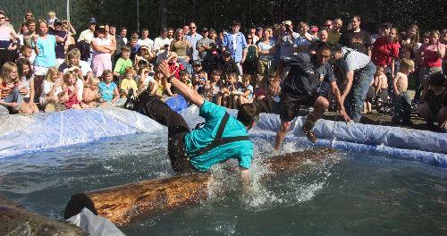 Falling off a log